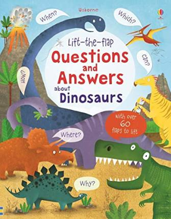 Lift-the-Flap Questions and Answers About Dinosaurs (Kartona grāmata)