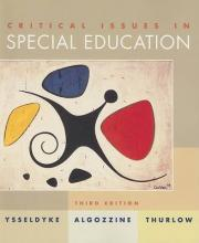 Critical Issues in Special Education