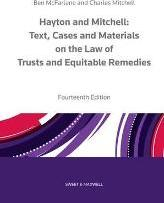 Hayton and Mitchell on the Law of Trusts & Equitable Remedies