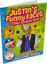 Justin's Funny Faces Sticker Activity Book