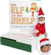 The Elf on the Shelf Girl Dark Doll with Book