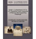 Israel V. Luckenbach S S Co U.S. Supreme Court Transcript of Record with Supporting Pleadings
