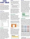 Excel Pivot Tables Laminated Tip Card